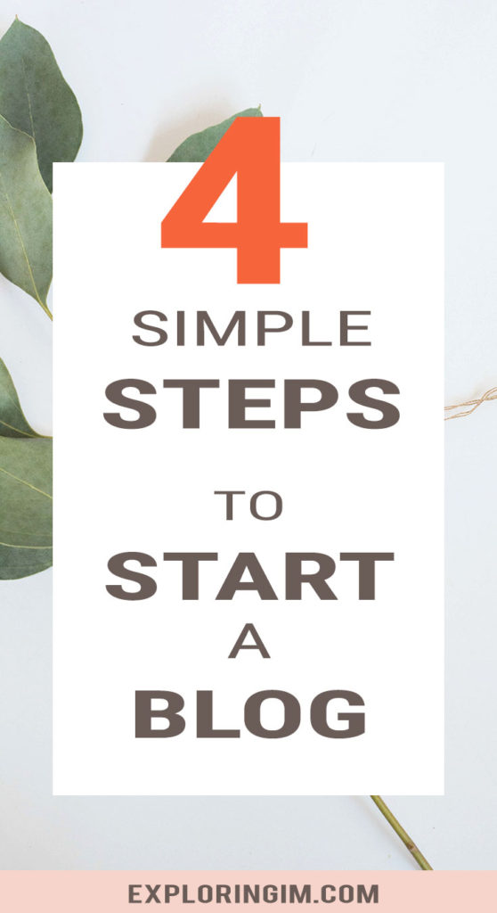 4 Simple steps to start a WordPress Blog