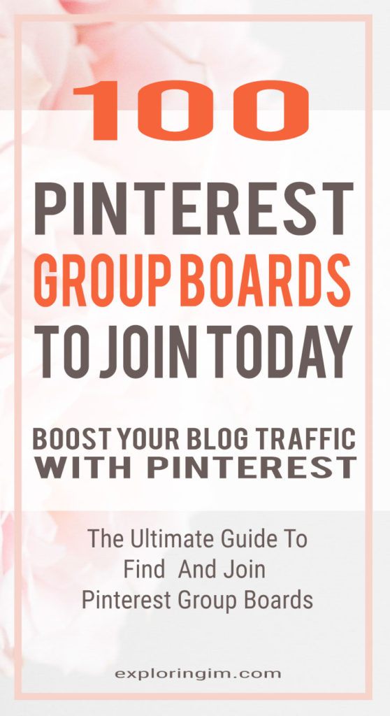 100 Pinterest group boards