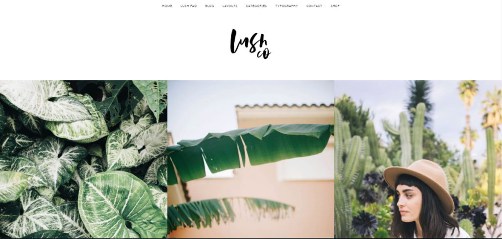 Lush Free feminine WordPress blog themes