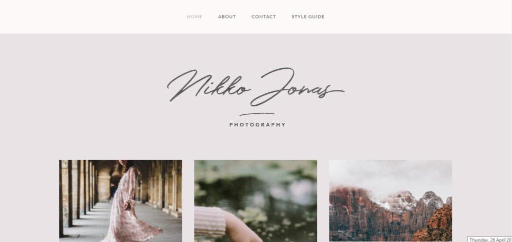 Nikko Portfolio Free feminine WordPress blog themes