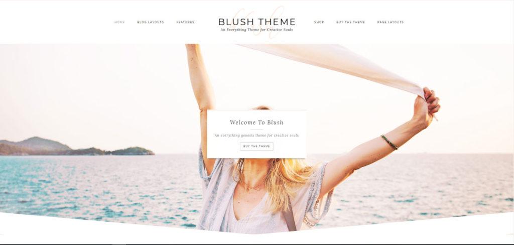 Blush Free feminine WordPress blog themes