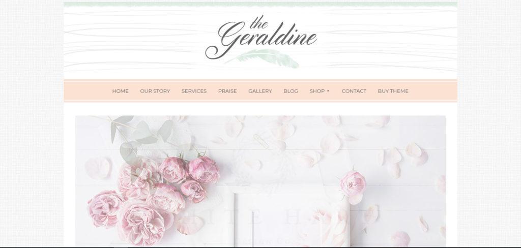 Geraldine Free feminine WordPress blog themes
