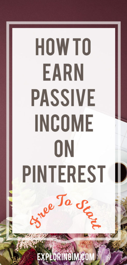Earn passive income on Pinterest