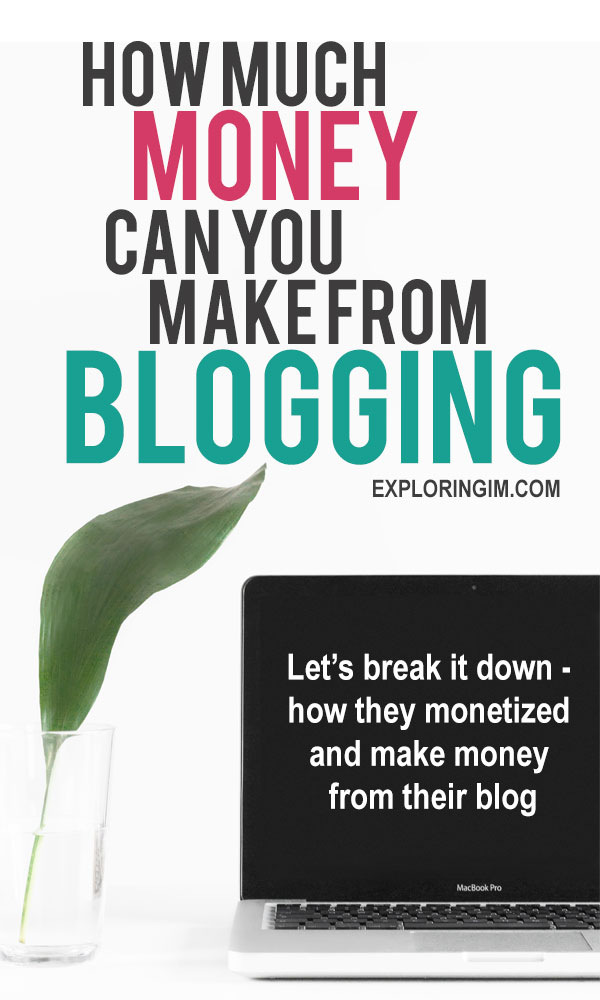 How much money can you make from blogging