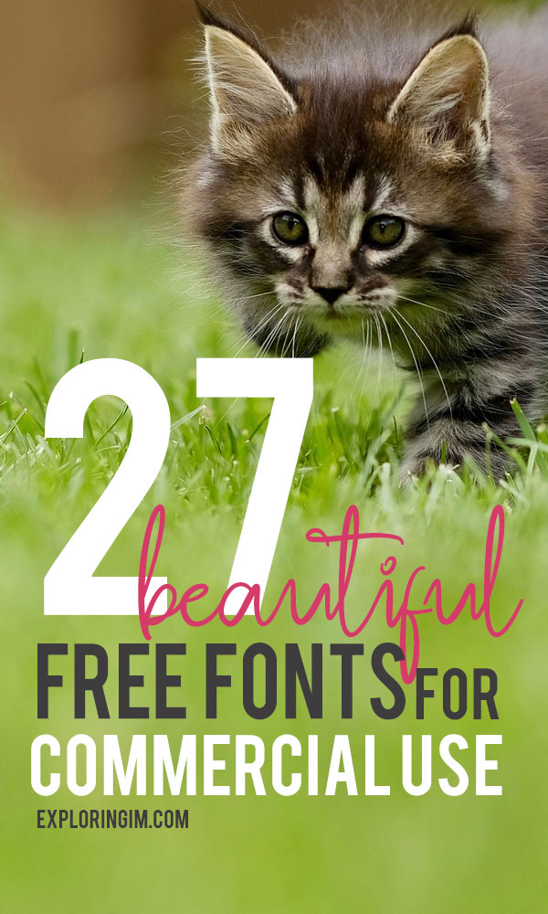 27 Beautiful Free Fonts For Commercial Use